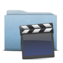Folder Blue Clap icon