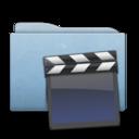 Folder Blue Clap icon