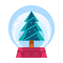 decoration, tree, decorate, christmas, snowglobe icon