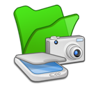 scanners, cameras, folder, green, & icon