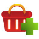 Add, Shoppingbasket icon