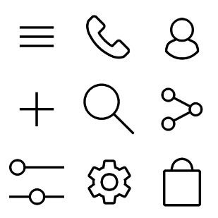 4WEB icon sets preview