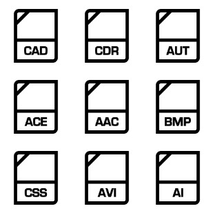File Extension icon sets preview