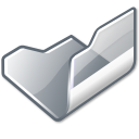 folder,grey,open icon