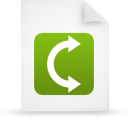 green, document, paper, file icon