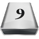 White 9 icon