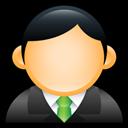 Executive, Green, User icon