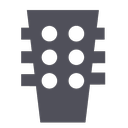 music, rock, flamenco, guitar, sound, audio, band icon