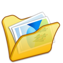 folder,yellow,mypictures icon