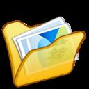 folder,yellow,mypictures icon