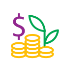 money, , profit, coins icon