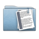file, folder, document, paper, blue icon