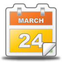 march, calendar, date, event icon