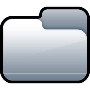 closed, silver, folder icon