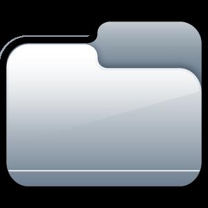 closed, silver, folder icon