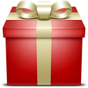 red, gift, present, box, giftbox icon