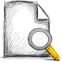 search, file icon
