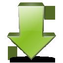 download, decrease, fall, descend, down, descending icon