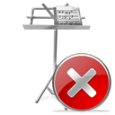 cancel, close, stop, no, my document icon