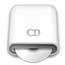 whitedrives,cd,disc icon