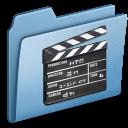 film, movie, old, blue, video icon
