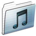 music,folder,graphite icon