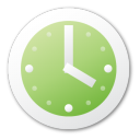 alarm clock, green, time, alarm, clock, history icon