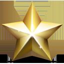 christmas, star, golden icon