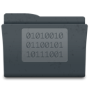 folder, code, golden icon