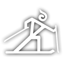 country, skiing, cross icon