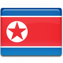 flag, country, korea, north icon
