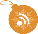 christmas, ball, rss icon