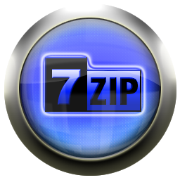 zip, blue icon