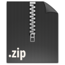 file, paper, zip, document icon