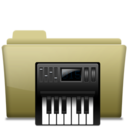 Folder Music alt Brown icon