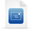 paper, document, blue, file icon