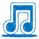 blue music icon