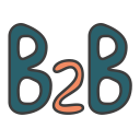 business 2 business, business model, b2b, business to business icon