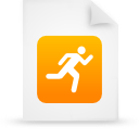 paper, file, document, orange icon