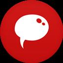 Chat, Circle, Flat icon