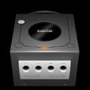 gamecube, jet, black icon