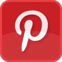 social media, red, photosharing, printerest, square icon
