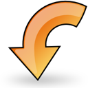 arrow, previous, object, rotate, back, prev, left, backward icon