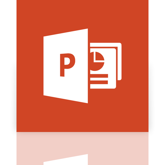 powerpoint, mirror icon