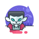 scary, costume, halloween, vampire, monster, spooky icon