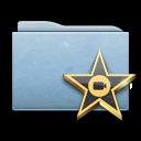 movie, blue, folder, film, video icon