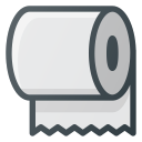 toilet, roll, paper, trick icon