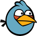 angry birds, blue bird icon