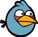 angry birds, blue bird icon