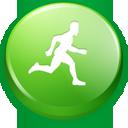 green, running, man icon